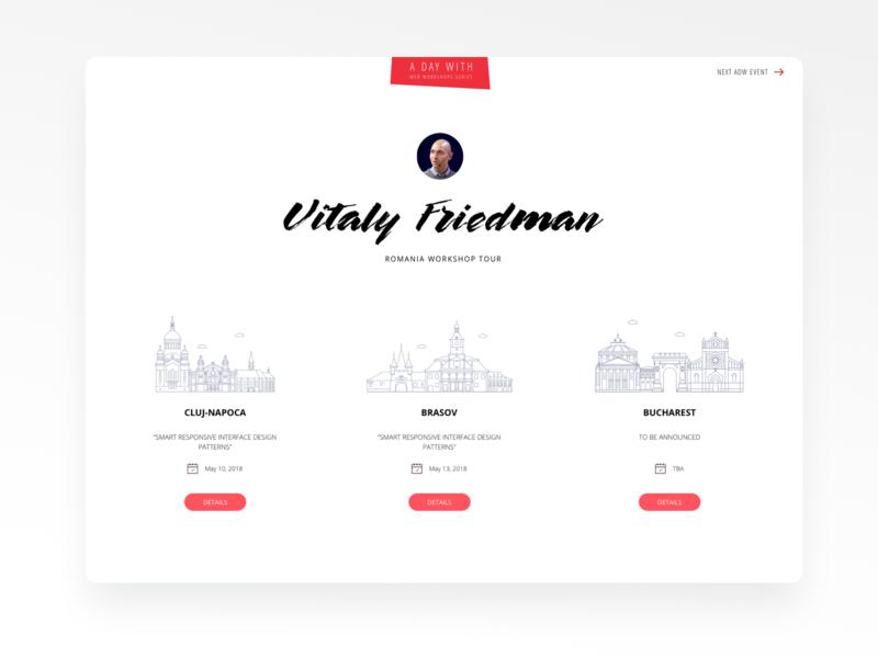 ADayWith Website Layout web ui interface design design