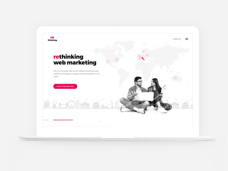 MD Thinking Layout ux ui web interface design design