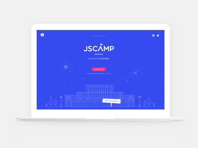 JSCamp Romania Website flat logo vector web ui interface design design