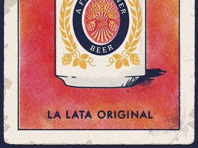 Come Original, You Got To Come Original lotería card texture halftone bingo loteria beer red yellow playing card beer can illustration