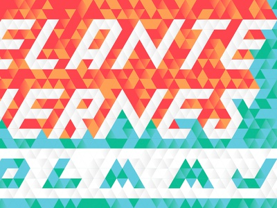 Goin' Up on a Viernes hispanic latino geometric type lettering tile triangle