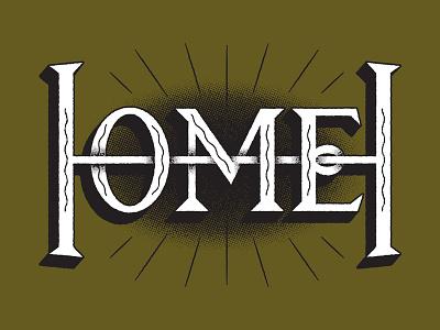 Home squiggles radials monogram lettering