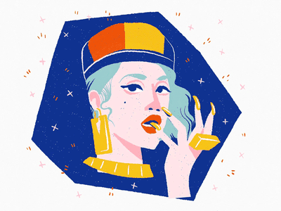 Banjee Girl drawing fashion hiphop woman portrait people editorial editorial illustration spot illustration illustration
