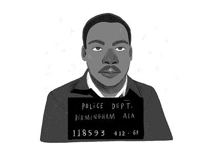MLK drawing mlk martin luther king jr reverend politics man portrait people editorial editorial illustration spot illustration illustration