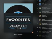 Rdio Playlist Art - December Favorites (Revised)