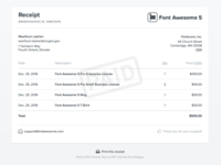 Font Awesome 5 Receipt