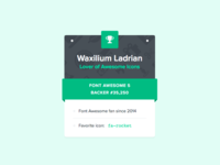 Font Awesome User Card