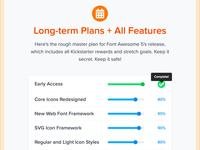 FA Features - Plans + Progress