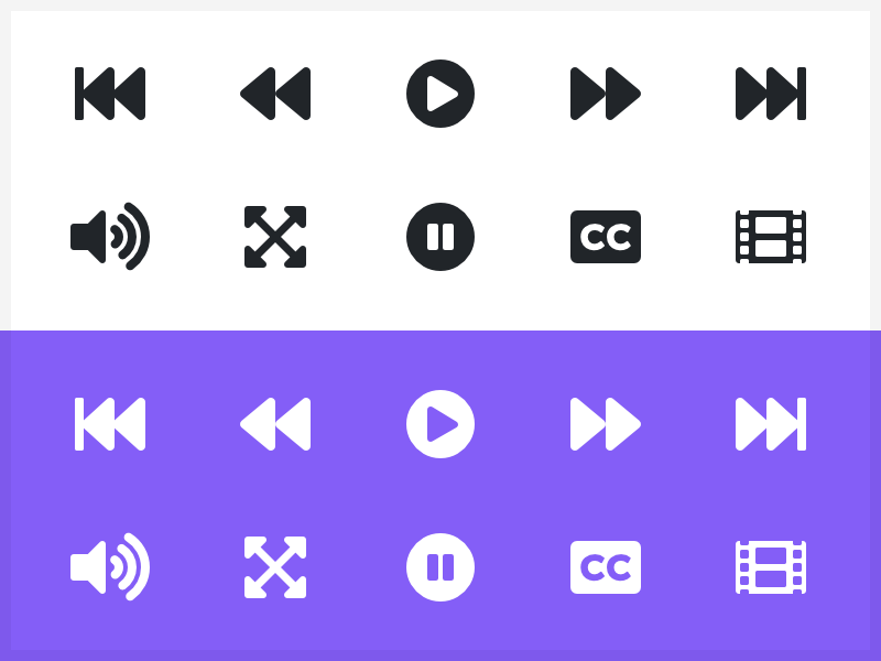 Video player dribbbs solid