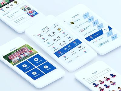 UX UI Club Sport App Concept concept mobile app rugby design ui ux