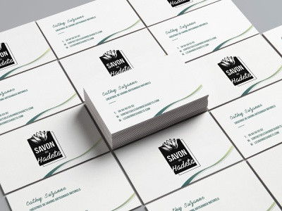 Business Cards Savon des Hadets contact card contact logo busines card illustration design
