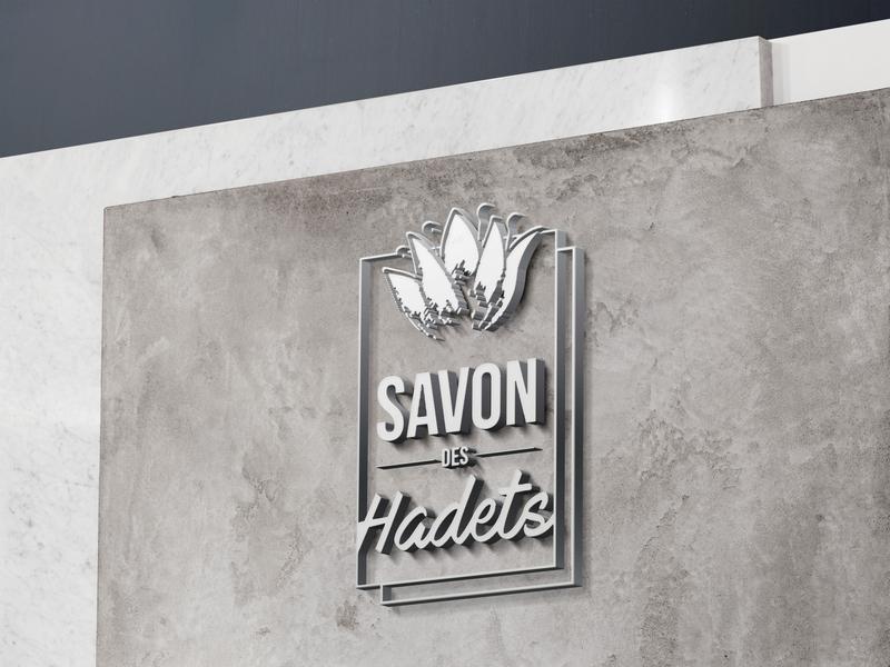 Wall Sign Concept Savon des Hadets mockup design logo wall art wall sign