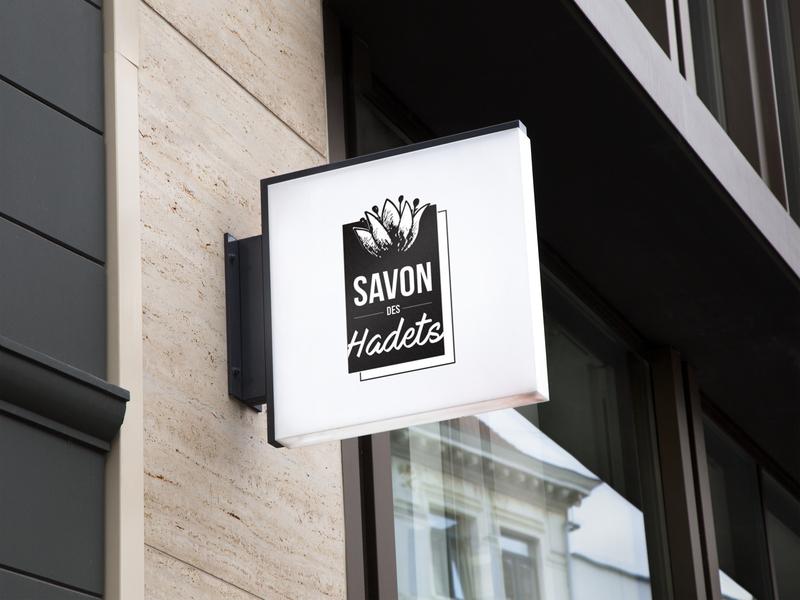 Wall Sign Concept 2 Savon des Hadets logo mockup design wall design wall art wall sign