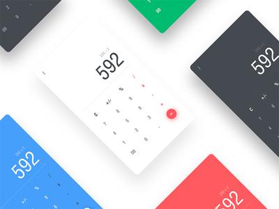 Calculator design concept appui calculator