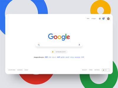 Google Search Redesign search google web design ui design
