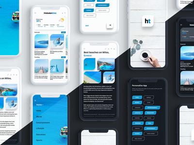 Hindustan times news app Redesign concept hidustantimes newsapp redesign ui design ios concept ui design