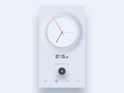 Clock App Design concept clock app concept ios ui design