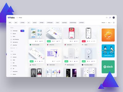 Uplabs homepage redesign concept uplabs landing page website gradient redesign ui design concept ui design