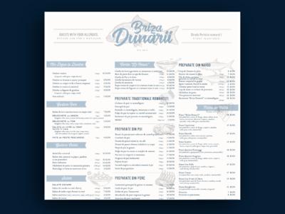 Seafood Menu Restaurant