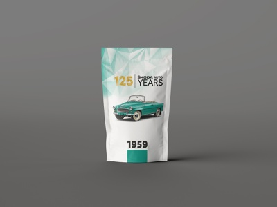 Packaging Design for Skoda - 125 Years candy packaging design skoda design packaging