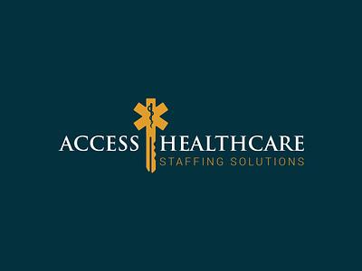Logo Healthcare Solutions yellow green logo design doctor medical healthcare