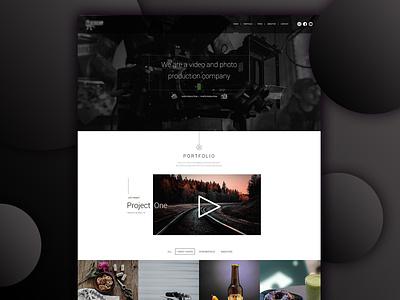 Landing page design Video Portfolio ux landing page ui website design