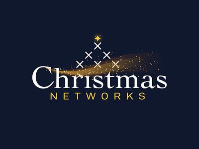 Christmas Television Logo stars gold network online television logo christmas