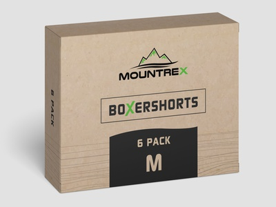 Box Shorts Design green packaging design box
