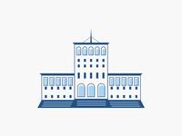 Albania Building - Icon Design