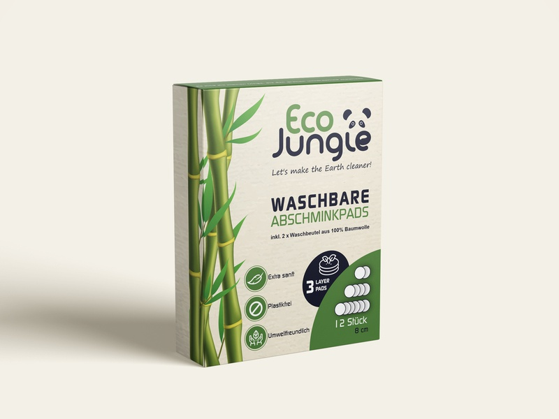 Packaging design - Eco box illustration bamboo jungle panda box print vector design packaging