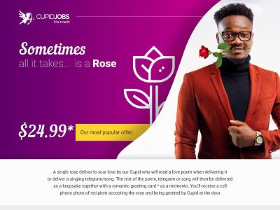 Landing Page -  Rose pink rose ui landing page design website