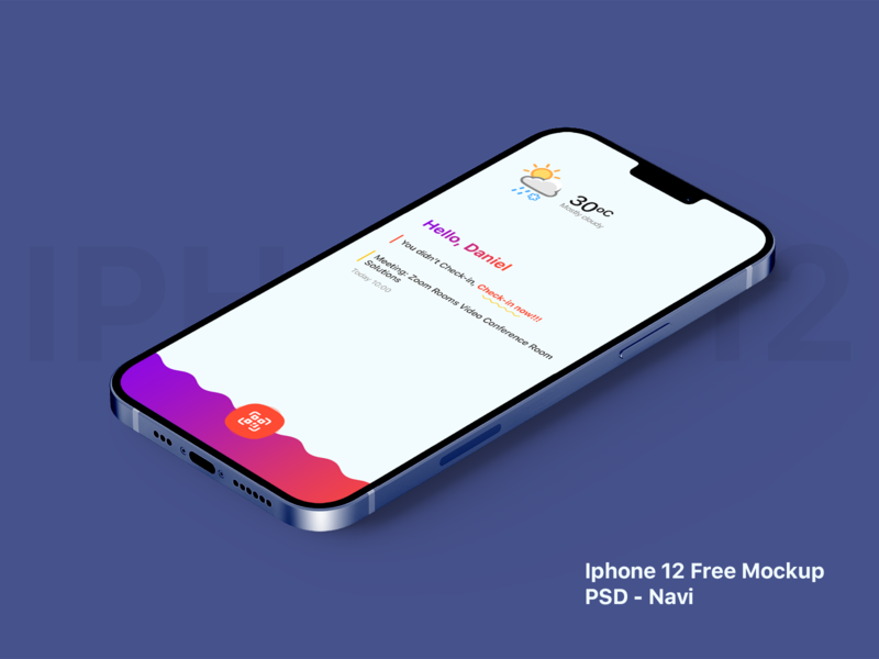 Free iPhone 12 Mockup - PSD freebies iphone 12 iphone mockup mockup psd