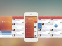iOS 7 Santander referral platform app