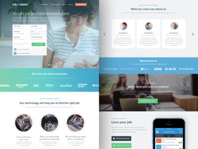 Jobandtalent landing redesign - Find the job of your dreams