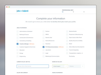 Signup funnel redesign