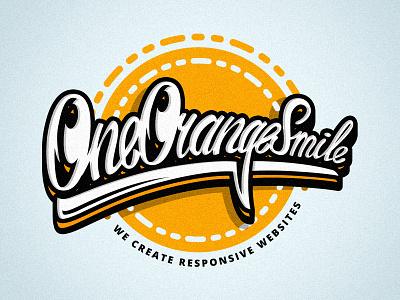 T-shirt logo by OneOrangeSmile orange oneorangesmile brushpen 3d lettering logo