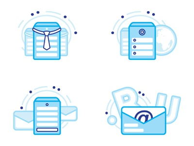 Tendence services icons mail spam security flat hosting icon tendence