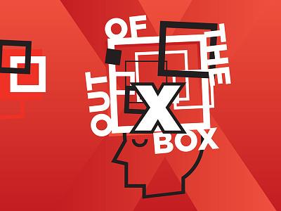 TEDxFontankaRiver 2017 box brain head oneorangesmile branding white red ted tedx
