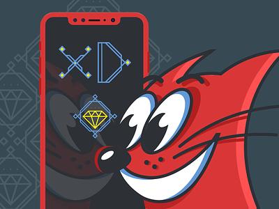 Adobe XD Playoff: Splash Screen iphonex character red adobe xd icon illustration cat screen splash