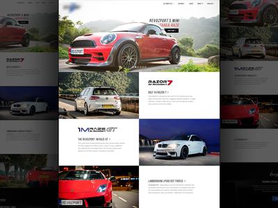 Automotive Website website web design creative classy car automotive