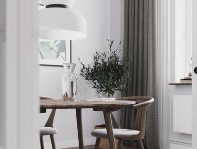 White interior design concept gpu design details 3dsmax rendering 3d vray cgi