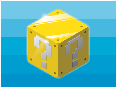 Mystery Box vector art illustration isometric illustration isometric isometric art fun videogames games nintendo bowser mario