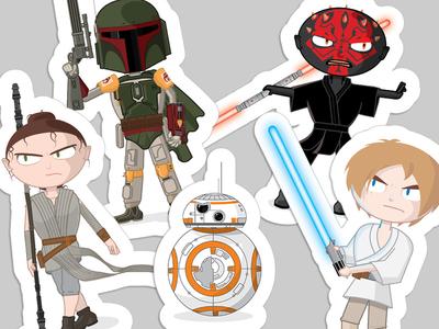 Surly Star Wars Stickers