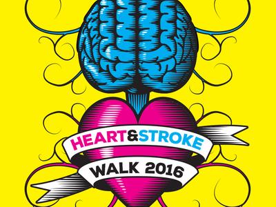 Heart & Stroke Walk Logo