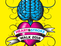 Heart & Stroke Walk Logo