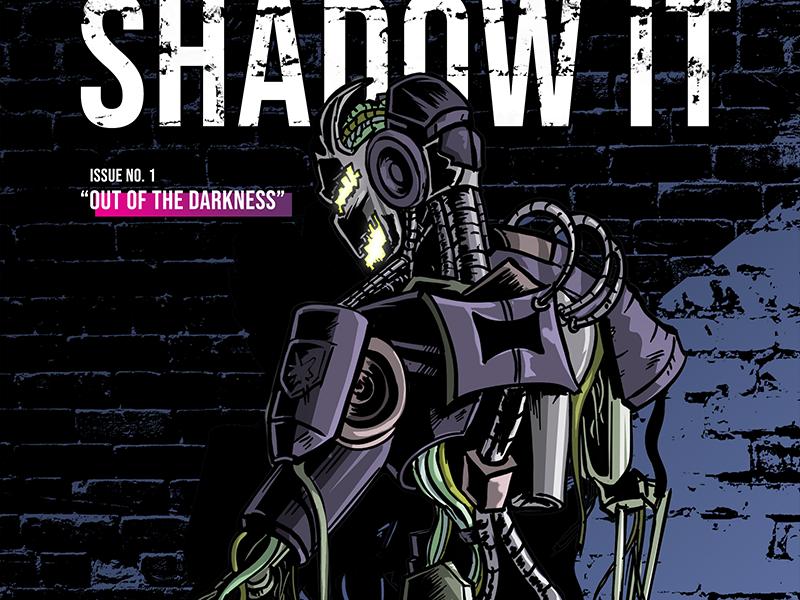 Shadow IT art design art illustration concept digital drawing it tech robot comic