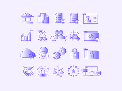 Data Protection Icon Set website web uiux set mobile miew infography icons iconography icon branding app