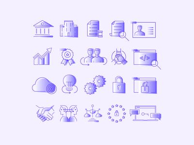 Data Protection Icon Set