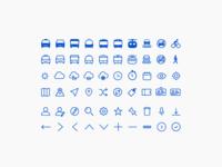 Mobility Icon Set