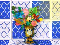 Morocco texture colors design illustration